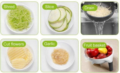 UI145 7 in 1 Nicer and Dicer Set Of 12